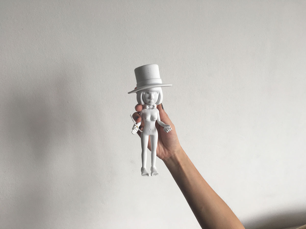 3D printed prototype of Ava the Magician in PLA material