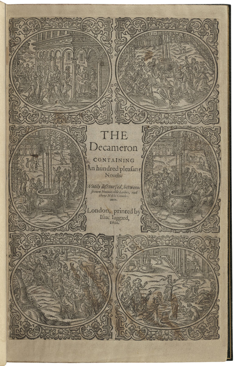A 1600 edition of the Decameron, printed by Isaac Jaggard