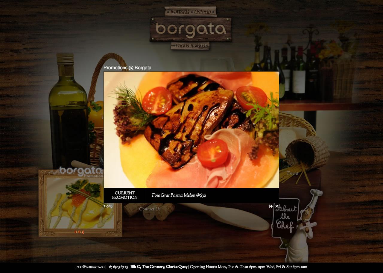 Borgata Italian Restaurant Website Natalie Sg